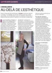 Article sur le Centre l'Excellence, spécialiste minceur et anti-âge, dans le Point Eco d'Alsace