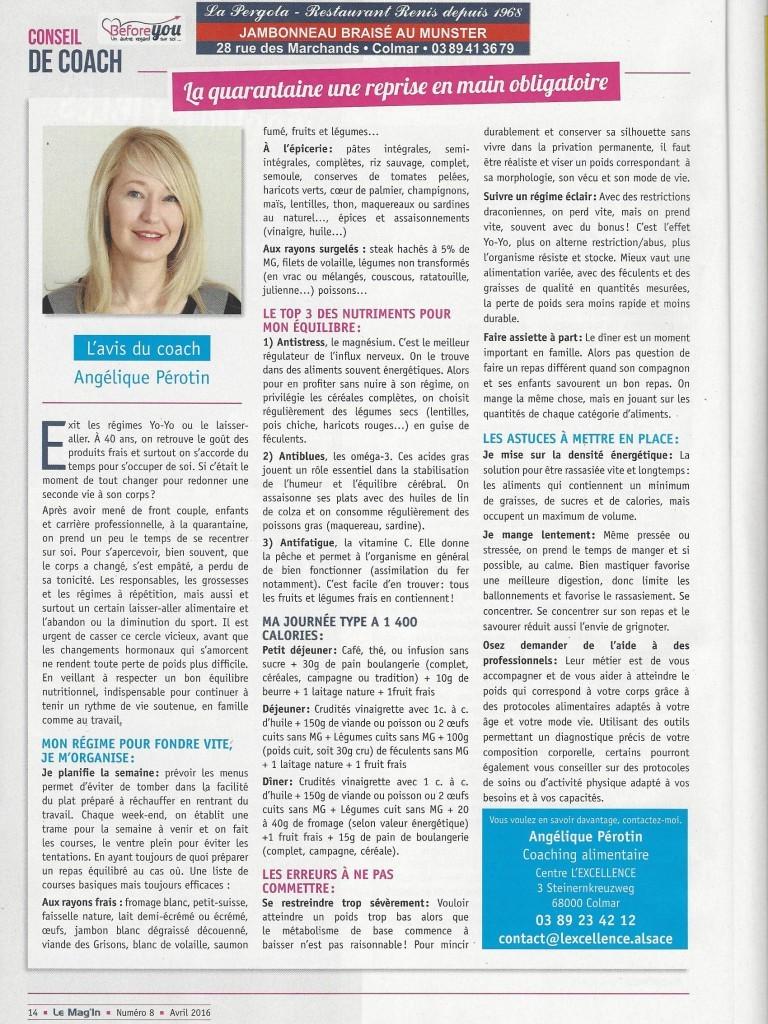 Les Conseil Coach - Mag'In Avril 2016
