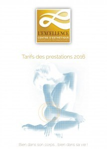 L'Excellence - Tarifs prestations 2016