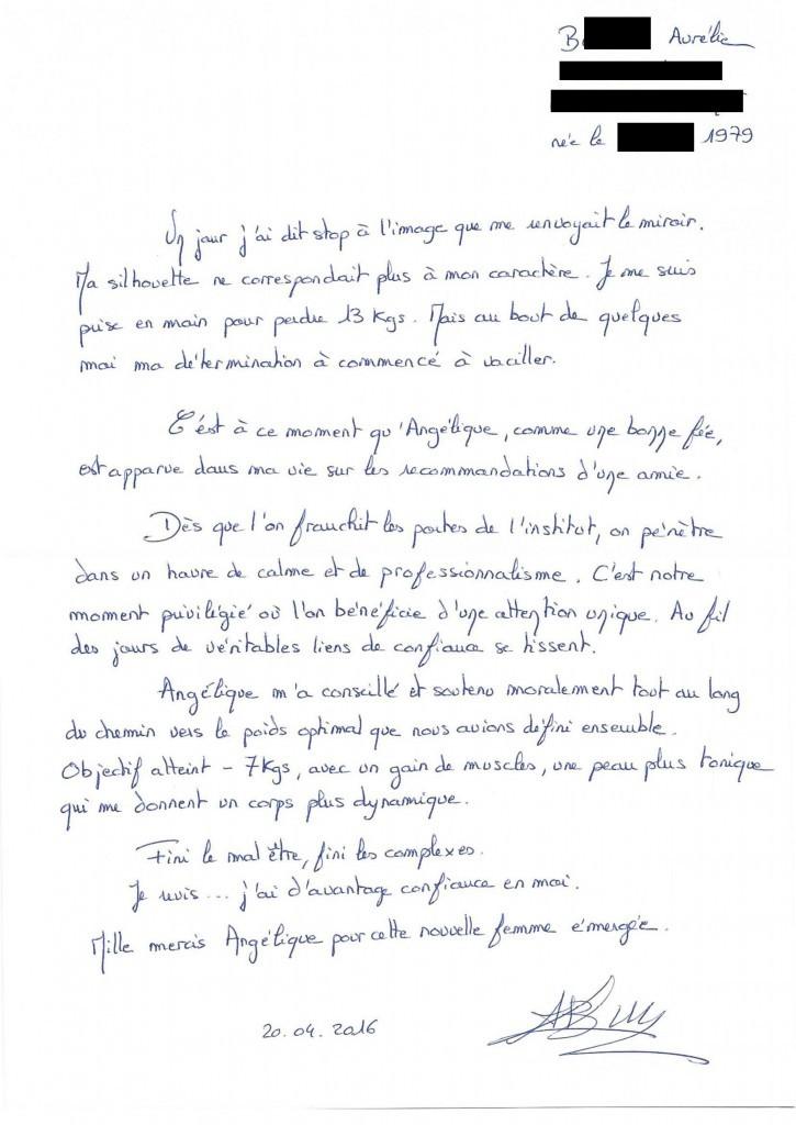 Témoignage Aurélie B - 37 ans